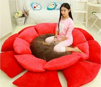 Wholesale Fancytrader Diameter cm Jumbo Stuffed Lovely Plush Flower Mattress Tatami Colors FT50663