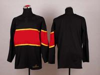 Cheap 2014 Sochi Olympic Team Hockey Jerseys Black Blank Hockey Wears Brand Mens Sports Uniforms Newest National Team Jerseys Athletic Jerseys