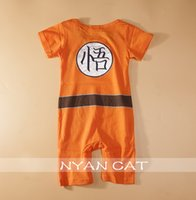 baby dragon costume - 200pcs Dragon Ball Goku KungFu Jumpsuit Baby Toddler Fancy Dress Costume Outfit Romper