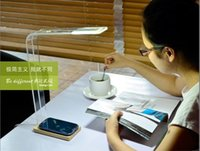 Wholesale Gift E light LED Table Touch sensitive Lamp Wood Concise Design Wireless Charging Lamp iPhone Samsung Nokia