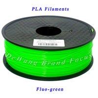 Wholesale DeWang R Fluo green D Printer Filament PLA mm MM KG Plastic Rubber Consumables Material colors order lt no track