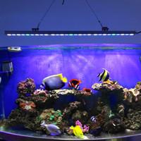 Горячий продавая водоустойчивый бар СИД аквариума 54w вырастите светлую белизну + голубую UV для светильника бака рыб коралла рифа освещение светильника бар аквариума IP65