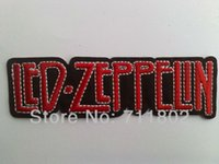 badge embroidery uk - Led Zeppelin Iron on patches UK rock band embroidery fabric Music patches Band Patch applique punk Badge