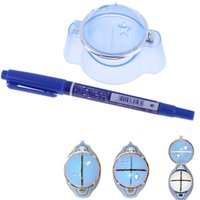 Wholesale Hot Golf Ball Liner Marker Template Drawing Alignment Tool Plastic And Blue Pen BHU2