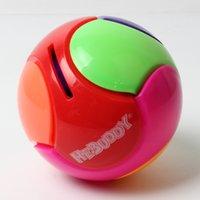Wholesale Educational spherical piggy bank saving pot ball block colorful Toy building blocks
