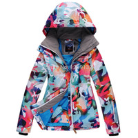 Wholesale Fashion leopard print snowboarding jacket waterproof snow suit for women jacket special for skiing clothes