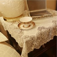 Square lace tablecloth - 2015 New Hot Woven Home Outdoor Hotel Wedding Party Tablecloths Upscale Luxury Modern Embroidery Table Coffee Flag