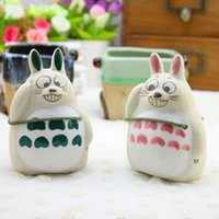 ceramic flower pots - Cartoon Chinchilla to manually pull carts flower potted succulents personalized ceramic pots creative decorations gift
