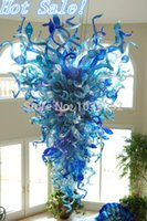 hand blown art glass - Hotel Large Modern Art Hand Blown Glass Chandelier Lighting