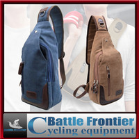 Wholesale canvas leisure fishing riding cycling equipment outdoor sport chest pack cross body sling single shoulder messenger bag package