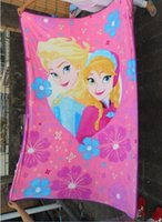 Wholesale 2015 new Elsa anna baby Blankets Dairy queen elsa adventures anime raschel kids blankets cheapest