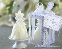 Wholesale In Stock New Arrival Europe wedding favors Cute Lovely Bride Candle Favors Christmas Gift baby gift Wedding gift