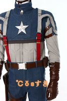 america s game - New Movie Captain America Cosplay The Winter Soldier Cosplay Costume Uniform Outfit For Steve Rogers Full Set Cosplay Tailored