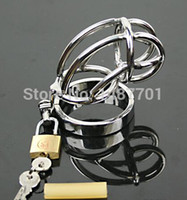 Cheap HOT SALES Chastity Men's Cock Cage Stainless Steel Ring Adult Sex Product Bondage Master Fetish Chastity Belt Device