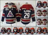 jacket team - Colorado Avalanche Nathan MacKinnon Hooded Sweatshirt Hockey Jackets New Style All Teams Outdoor Uniform size