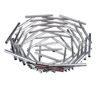 Wholesale high grade stainless steel bowl trumpet nest fruit of modern Home Furnishing creative fruit plate