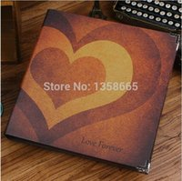 baby record books - 12 inch Handmade DIY Photo Album Heart Scrapbooking Travel Baby Record Book Black Card For Gift