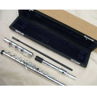 Wholesale 17 opened holes flute c key silver plated
