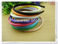 Wholesale mm Colored Satin covered hairbands fashion Hair Band Baby Headband Hair accessories color avaliable