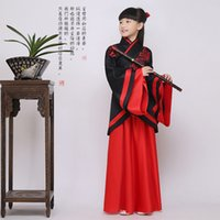 ancient chinese robes - Cosplay Children s day Girls Han Hanfu Ancient Chinese Embroidered Robe Clothing Quju Shenyi Fairy Cosplay Costumes Fancy Dress