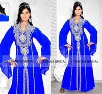 Cheap Formal Long Sleeves Evening Dress Best Kaftan Dubai Arabic Muslin Dresses 2015