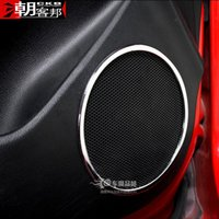 Wholesale ABS interior audio circle special car stickers affixed door speakers car Accessories For Kia RIO K2