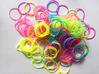 Wholesale Selling high elastic rainbow color silicone rubber bands Color noctilucent elastic rope Rubber band TY36