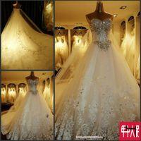 muslim bridal gown - TW180 Sexy Luxury Crystals Romantic Fashionable Plus Size Wedding Dress Bridal Dress Gowns Vestido De Noiva Custom Made
