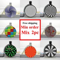 alloy wheels pictures - NS Optical illusion Necklace Magic Moving Wheels Pendant Abstract Jewelry Glass Art Picture Necklace