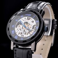 Wholesale 2014 Gold automatic Watch Men Skeleton Mechanical Fashion Luxury Watch Stainless Drop stainless steel belts waterproof MCE