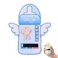 baby bottle thermometer - Infant Baby Flexional Milk Bottle Temperature Measuring Card Temperature Test Strip Thermometer Sticker