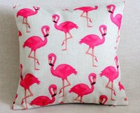 flamingo - Red Flamingo Pillow Cover Cushion Covers Pillow Cases Linen Car Home Accesorries by DHL