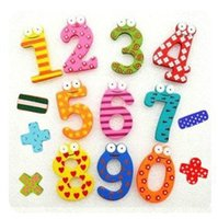 Wholesale Hot Selling Set Number Funky Wooden Fridge Colorful Magnets Numbers Magnetic Education Learn Cute Kid Baby Educational Toys
