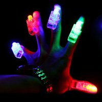 Wholesale Led magic ring finger lamp luminous lamp flash ball ring laser beam colorful light Toy