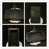 Wholesale 30pcs Craft Kraft Paper Black Cardboard Retail Packaging Package Box Carton Packing Boxes for iphone plus s s plus S6 edge plus Note5