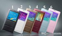Wholesale Best Quality wake sleep function flip leather case cover for Samsung Galaxy S5 I9600 Note English Without packing