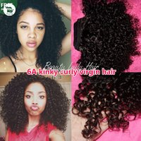 Wholesale 3pieces a mongolian kinky curly virgin hair in human hair weaves