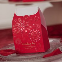 asian wedding favors - Asian Theme Starlit Red Wedding Candy Gifts Favors Boxes Set of