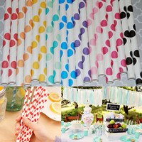 Wholesale 25Pcs Colors Vintage Polka Dots Paper Straws Biodegradable Drinking Straws For Birthday Wedding Party