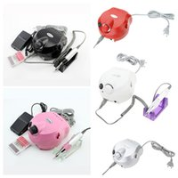 Wholesale 110 V RPM Pro Electric Nail Art Drill File Bits Machine Manicure Kit Professional Salon Home Nail Tools Set