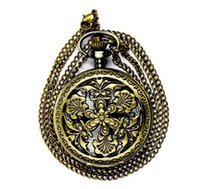 alchemist clock - Vine pocket watch bronze Creative morning glory flap pendant watch full metal alchemist pocket watches antique watch necklace clock
