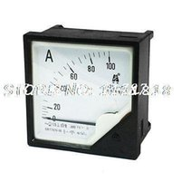 Cheap Wholesale-Plastic Housing AC 0-100A Current Test Ampere Panel Meter Gauge 42L6-A