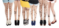color pantyhose - 2015 New Fashion Womens Sheer Lace Tights Sexy Stockings skin color Stocking Tattoo Design Pantyhose Fake tattoo Leggings Stockings NW8