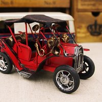 Wholesale Retro tin American classic cars handmade nostalgia decoration Cafe Bar Decorations