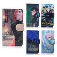 Wholesale 3D skull monster spirit holder lovely cartoon leather flip mobile phone cover case for TCL S900