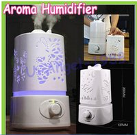 mist maker humidifier - 2014 Aromatherapy diffuser air humidifier LED Night Light With Carve Design Ultrasonic humidifier air Aroma Diffuser mist maker