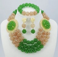 african beads - 2015 Special Offer Top Fashion Romantic Jewelry Sets Latest Fashion Crystal Nigerian Wedding African Beads Jewelry Set BC17
