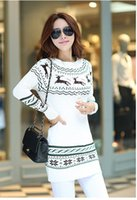animal print - 2014 Women Sweater Winter Autumn Long Slim cardigan Striped Knitted Pullovers Casual Sweater W3848