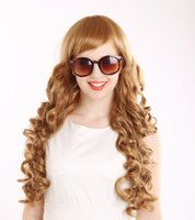 Cheap Light Brown cheap human hair wig Best Wave 60 cm wholesale cheap wig