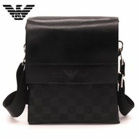 Wholesale Hot new European and American fashion Plaid Messenger Bag shoulder bag man briefcase